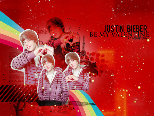 Justin Bieber be my valentine wallpaper