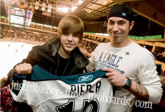 Justin Bieber & his dad