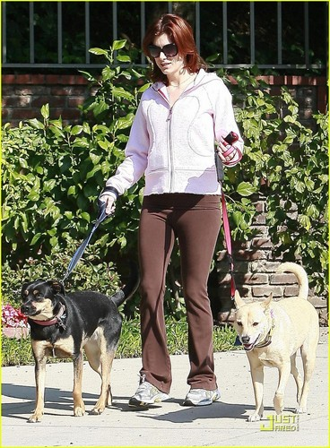 Kate Walsh dotes on her Aso