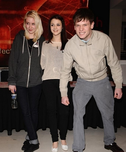 Kathryn & Jack (with Lily) at HMV Book Signing