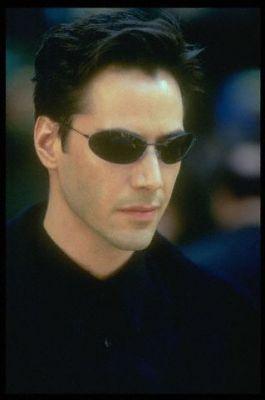 Keanu in The Matrix