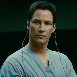 Keanu as Klaatu in The hari The Earth Stood Still