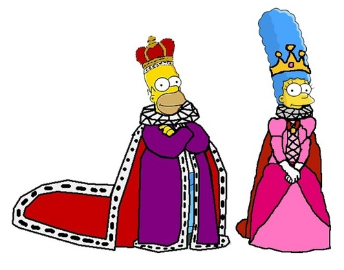 辛普森一家 壁纸 entitled King Homer and 皇后乐队 Marge