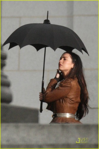 "Megan on set ""Jonah Hex"""