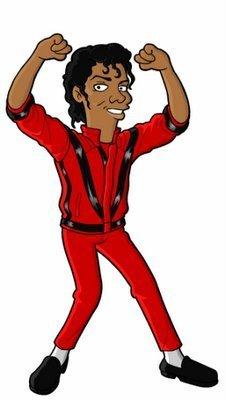 Michael Jackson's Simpson Character (Thriller)