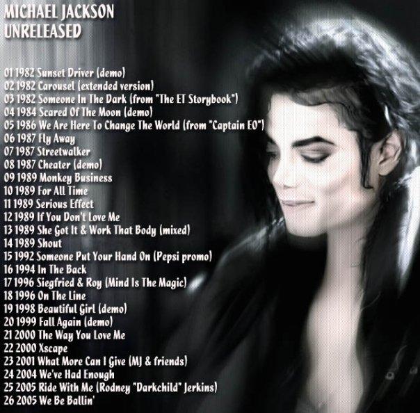 Michael's Unreleased Songs