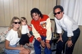 Mike,  Billy  Joel and family  - michael-jackson photo