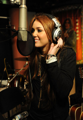 Miley recordng We are The World