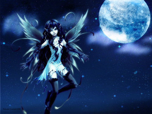 Under The Moon - fairies Wallpaper