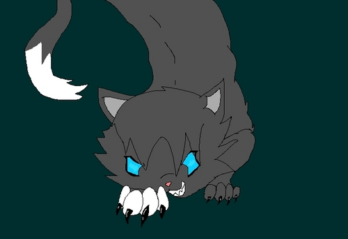 My drawing of an evil kitty >:D