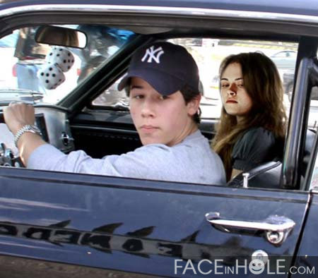 Nick jonas with Kristen Stewart