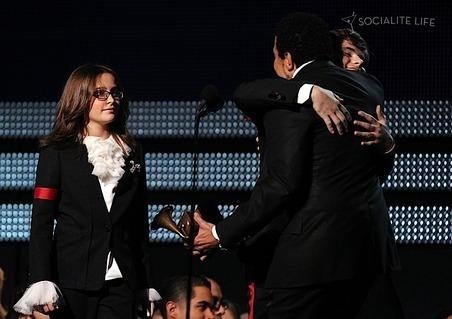 Paris, Prince and Blanket - Grammy 2010
