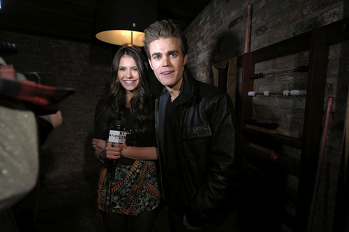 Paul Wesley and Nina Dobrev wallpaper called Paul and Nina