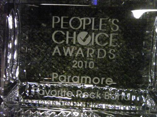 People's Choice Award 2010 - 帕拉摩尔 - 最喜爱的 Rock Band