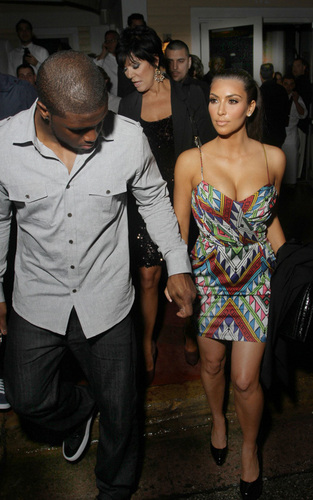 Reggie palumpong and Kim Kardashian at Prime 112 in Miami