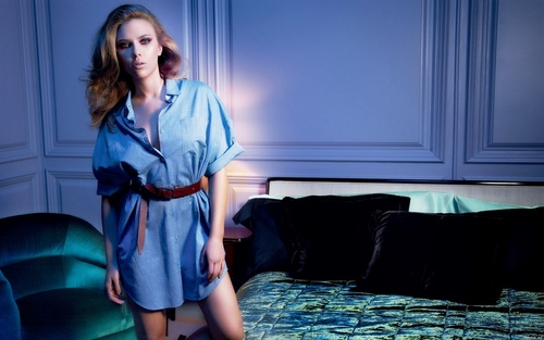 Scarlett Johansson Widescreen দেওয়ালপত্র