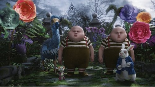 Alice in Wonderland (2010) kertas dinding entitled Tweedledee Tweedledum