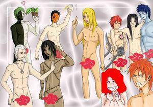 Akatsuki wallpaper titled Yuki and the akatsuki......NAKED..... XD