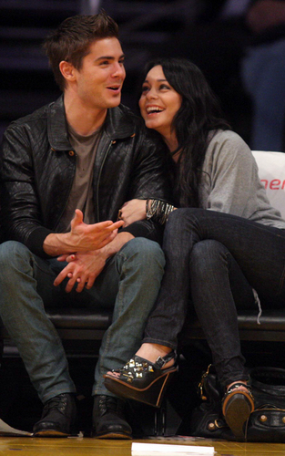 Zac and Vanessa at a Basketball game (Feb 3)
