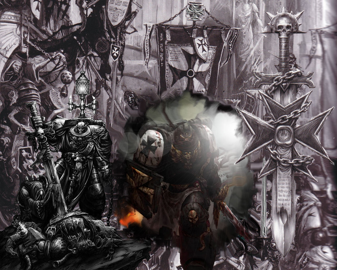 warhammer 40k images black templars hd wallpaper and