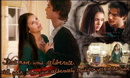The Vampire Diaries پیپر وال entitled damon & elena