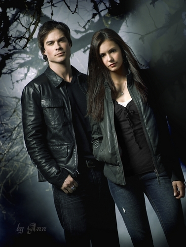 Damon & Elena wallpaper entitled damon salvatore & elena gilbert