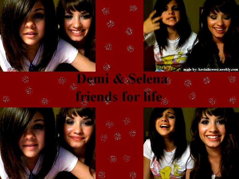 slena and demi wallpapers - Selena Gomez and Demi Lovato Wallpaper .