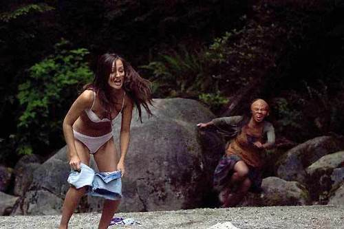 Horror films achtergrond entitled wrong turn 2
