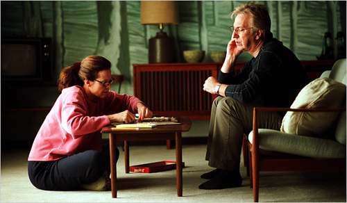 Alex and Linda playing Scrabble
