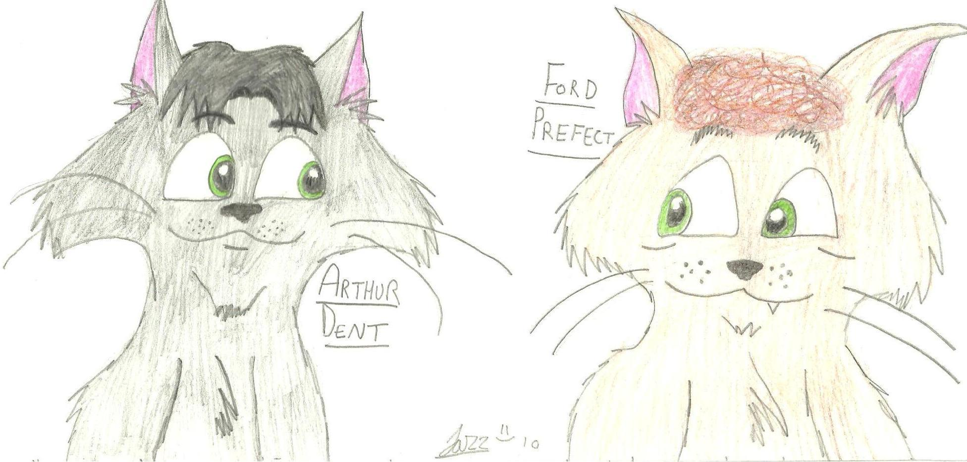 Arthur and Ford Cats Fanart