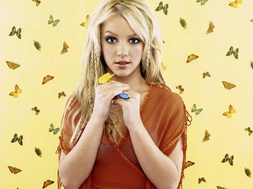 Britney бабочка Обои