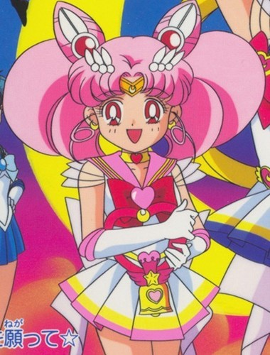 Sailor Mini moon (Rini) Hintergrund titled Chibiusa