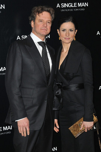 Colin Firth at the Paris premiere of A Single Man