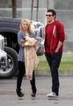 Cory and Dianna behind the set