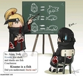 Deidara teaching Itachi about Kisame - akatsuki photo
