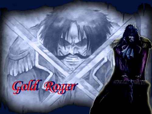 One Piece achtergrond called goud D. Roger