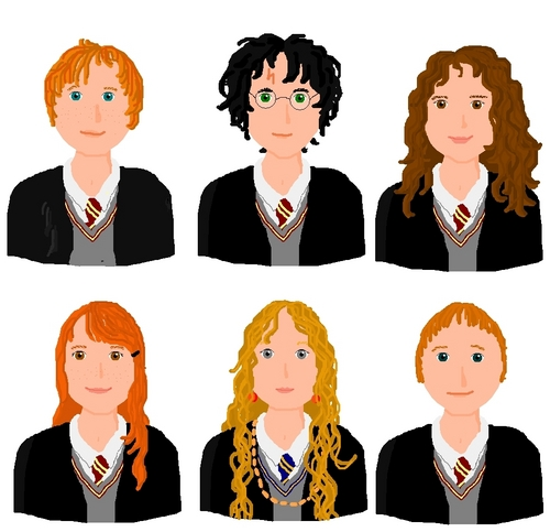 Harry Potter Images HP Characters In Comic Style HD