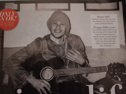 Heath in Australia OK magazine