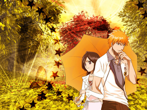 IchiRuki Autumn - bleach-anime Wallpaper