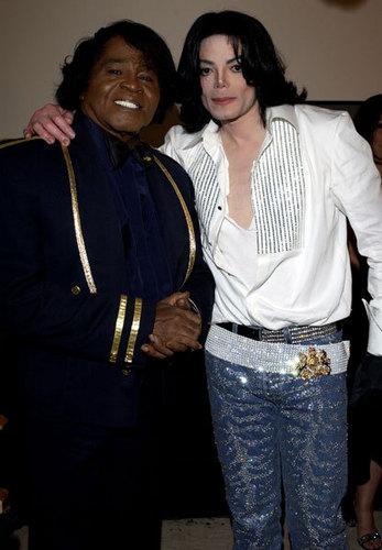 James Brown and Michael Jackson