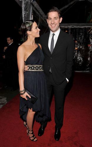 John Krasinski and Emily Blunt at the LA Premiere of 'The Wolfman'