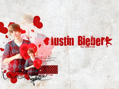 Justin Bieber Valentine layout