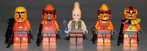 LEGO nyota Wars flamethrower troops and ki-adi mundi