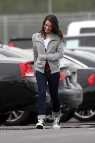 Lea Michele On Set - February 9th