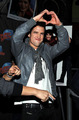 Logan with a heart sign