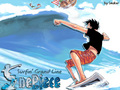 Luffy Surfing - monkey-d-luffy wallpaper
