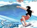 monkey-d-luffy - Luffy Surfing wallpaper