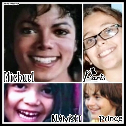 the jackson 3 achtergrond called MJ,Prince,Paris, & Blanket and their beautiful smiles <3