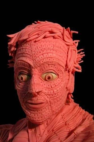Man made out of Chewed gum!!!