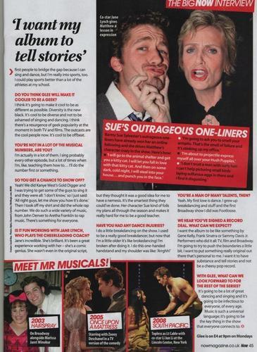 Matthew Interview in NOW Magazine